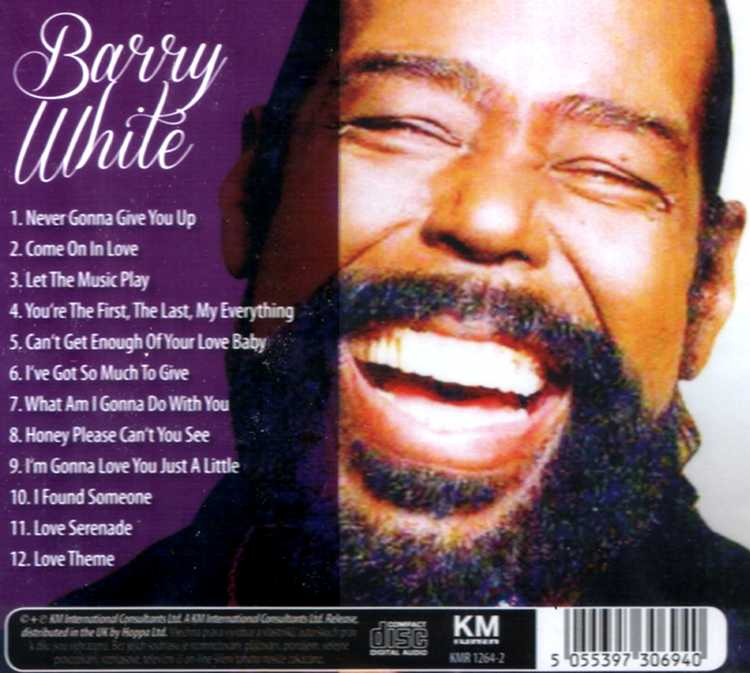 Barry White CD The sweetest symphonic soul